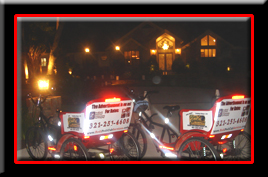 Pedicabs are used at house parties and events where parking may be a little ways away.