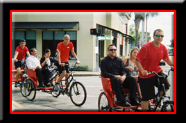 Redi Pedi pedicabs are used at public and private events where short-haul transportation is needed.