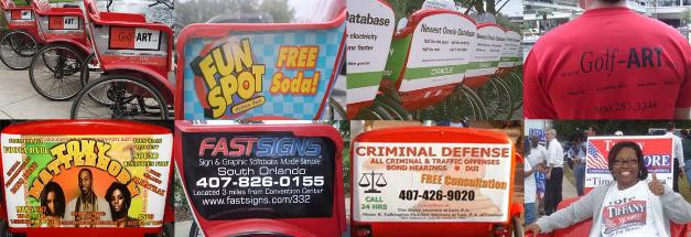 Pedicab Outdoor Advertising, Promotions, and Marketing.